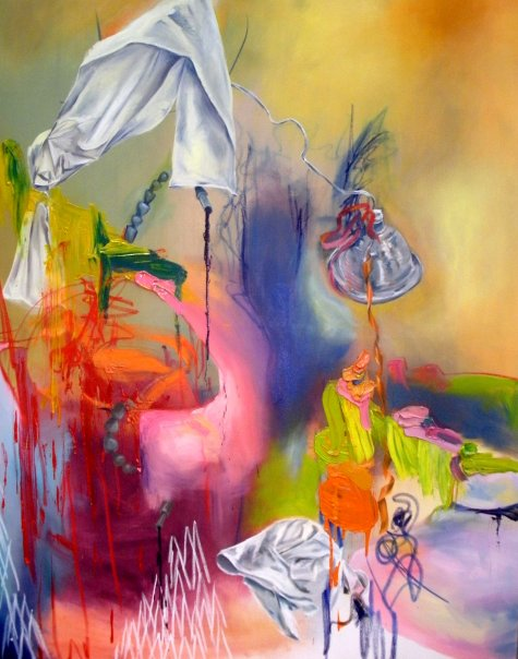 Transcendant Stuff oil on canvas