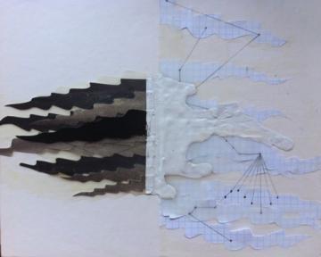 Possible Universe 1 gouache, pencil, acrylic on paper